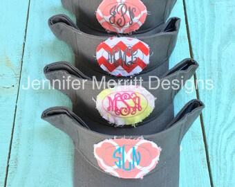 Monogram Visor, Monogrammed Sun Visor, Monogram Patch Visor, Monogrammed Visor, Monogram Gift, Preppy Hat, Summer Visor Gift for Her
