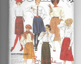 UNCUT Sewing Pattern McCalls 2147 for Skirts, 1980s, Sz 6-8-10