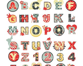 Woodland Fawn Collection Letter and Numbers Digital Clip Art