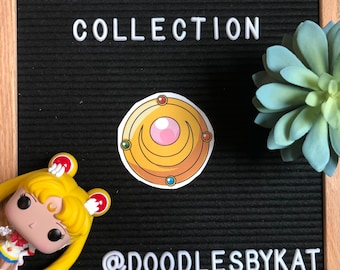Transformation Brooch // Sailor Moon Collection 4x6 Sticker