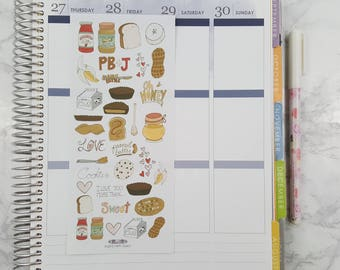Peanut Butter, Honey and Bananas Oh My! All Planners, Stickers