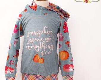 Pumpkin Spice Shirt, Girls Clothing, Pumpkin Spice and Everything Nice, Girls Clothing, Fall Hoodie, Toddler Girl Clothes, Size 2T