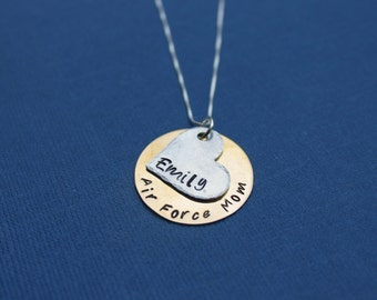 Air Force Mom Necklace Air Force Wife Personalized Necklace Airman