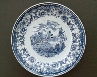 blue and white plates collectible plate for collection, blue and white kitchenware, 7.7 ""
