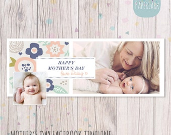 Mothers Day Facebook timeline Photoshop template - HM006 - INSTANT DOWNLOAD
