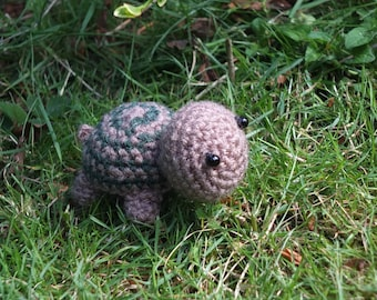 Small Crochet Tortoise by Little Gems Crochet - Can be made into a keyring - Any animal available
