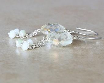Pastel Yellow Flower Dangle Earrings, Lemon Earrings