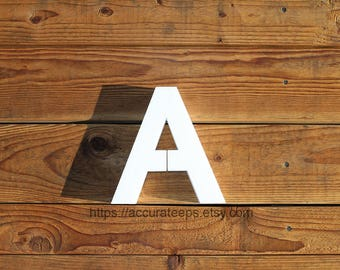 10 inch tall, 2 inch thick foam letter for crafting, painting, hanging, party decoration / Modified Arial