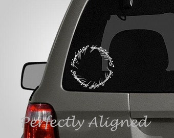 "Car Decal - 5"" Elvish Circle Car Decal inspired by The Lord of the Rings"