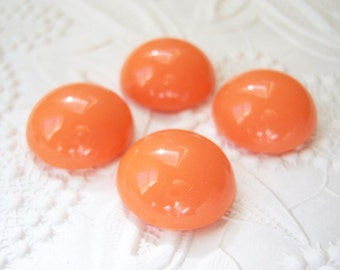 4 - Acrylic 18mm tangerine coral cabochons - TG44