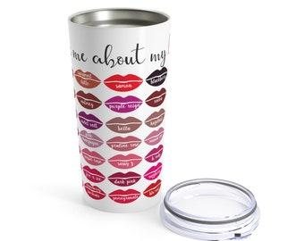 Lipsense Mug, LipSense Tumbler, LipSense Color Chart, LipSense Distributor, LipSense Gifts, LipSense 50 Colors, SeneGence Tumbler, 20 oz