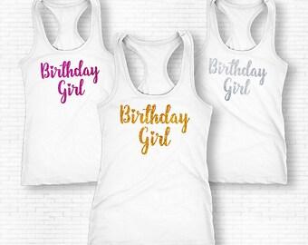 Birthday Girl Shirt, Birthday Girl Tank Top, Birthday Girl Gift, Womens Birthday Shirt, Birthday 18th 21st 30th 40th 50th 60th Shirt