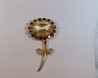 Yellow Flower Brooch