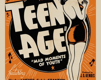 Modern Youth Teen Age Mad Moments of Youth American Vintage Poster Repro FREE SHIPPING in USA