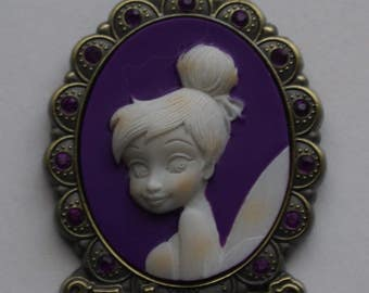 Disney Tinker Bell Cameo Pendant Necklace / Month of February Pixie Fairy