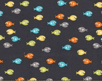 Guppies for Lunch Ocean 100% Cotton from Michael Miller Fabric's Mer-Mates Collection