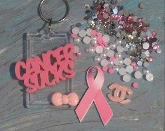 Breast cancer keychain kit