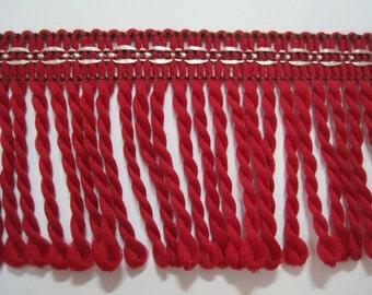 5 yards Red Bullion Fringe, Bullion trim, Twisted rope, Drapery trim, Home Decor Fringe, Bullion trim, red trim, red fringe,red bullion trim