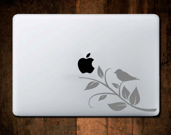Bird on Branch Decal, MacBook Decal, Laptop Decal, Bird Decal, Bird Sticker, Window Decal, Car Decal