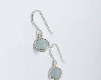 Aquamarine earrings, 925 sterling silver aquamarine earrings, natural aquamarine earrings, aquamarine jewellery, silver aquamarine jewelry