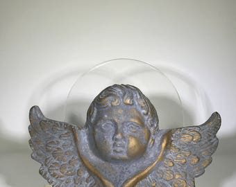 Vintage Loving Memory Angel/Cement Cherub/Concrete Angel Cherub/Shabby Sophisticate/Made in New Orleans/Garden Angel/Home Decor