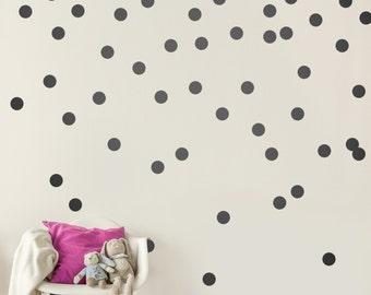 Black Wall Decal Dots (200 Decals)   2u0027u0027 Inch Vinyl Graphic Shapes
