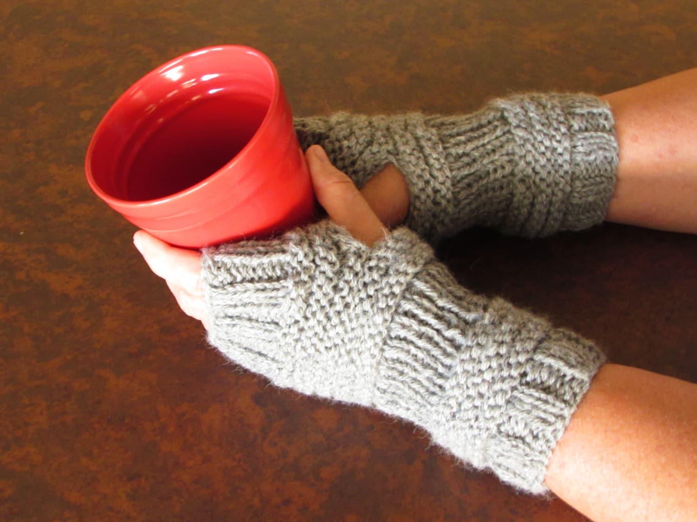 Fingerless Mittens Easy Knitting Patterns-Fingerless Gloves Women ...