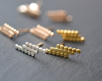 READY TO SHIP. Maud studs . Bar studs. earrings in gold vermeil or silver. Minimalist studs.