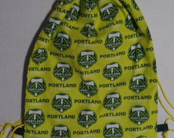 Portland Timbers Fabric Backpack with Drawstrings