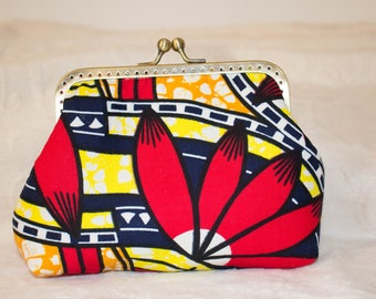 Coin purse with african colours