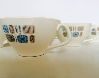 TEMPORAMA Cup from Canonsburg Pottery | 1950s Atomic pattern