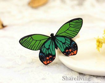 4pcs Wooden Butterfly  Charms, Laser Cut Wood Vintage Butterfly  Pendants, Perfect for Brooch  - HW079E