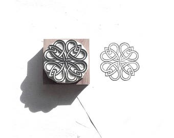 Rosette Rubber Stamp | 011060