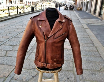 Leather jacket Brown Leather Original GUENDJ