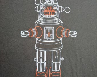 Toy Robots - Vintage Robby the Robot Toy (men) crew neck t-shirt