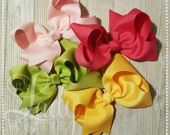 A Very Merry Make Believe Hair-Bow bundle~ Made to Match Matilda Jane Holiday Collection~~hair-bows for girls~baby bows~boutique bows~bows~~