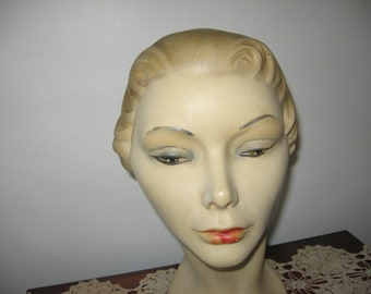 Vintage Mannequin Head, AS IS!