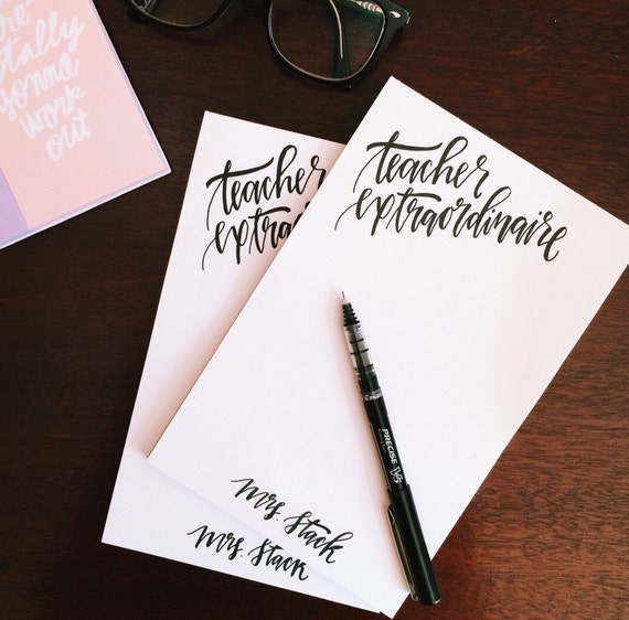 Personalized stationery, set of two personalized notepads, Valentine's gift for teachers, monogrammed stationery, gifts for her under 30