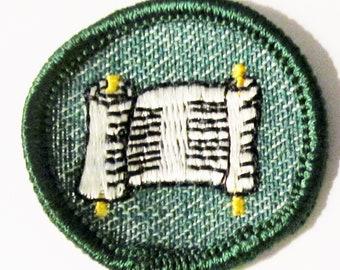 "Vintage Junior Girl Scout badge ""Writer"" circa 1950's"