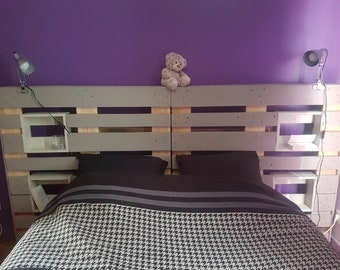 Headboard in trendy color palette and original
