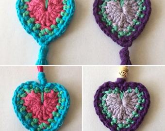 Handmade Boho keychain with crochet