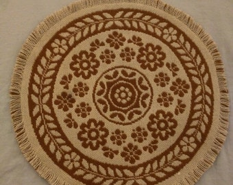 Round Wool Table Covering/Placemat