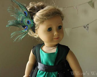 "Titanic Era ""Peacock Princess"" Costume Set for 18"" American Girl Dolls"