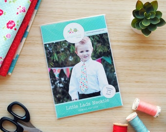 Little Lads' Necktie HARD COPY Paper Sewing Pattern, Skinny Tie and Wide Tie Styles Included, Make and Sell, Necktie Sewing Pattern