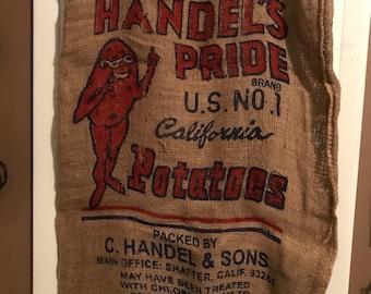 Handel's Pride Burlap Potato Sack Burlap Feedsack