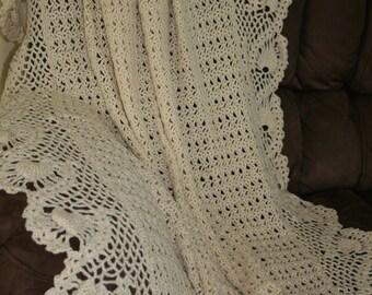 Crocheted Romantic Afghan