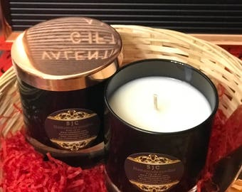 Luscious vanilla scented soy candles
