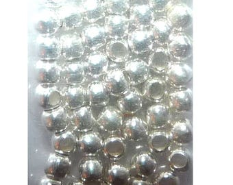 100 small round beads 2 mm Sterling Silver 925 for jewelry making