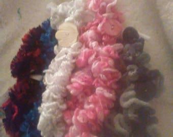 "Crocheted Scarves for 18"" dolls"