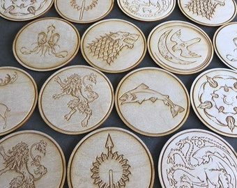 Game of Thrones coasters!